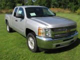 2013 Silver Ice Metallic Chevrolet Silverado 1500 LT Extended Cab 4x4 #83316983