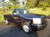 2008 Dark Blue Metallic Chevrolet Silverado 1500 Work Truck Regular Cab #83316950