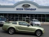 2005 Legend Lime Metallic Ford Mustang V6 Deluxe Coupe #83316588
