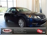2013 Obsidian Blue Pearl Honda Accord EX Sedan #83316302
