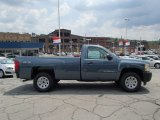 2013 Blue Granite Metallic Chevrolet Silverado 1500 Work Truck Regular Cab 4x4 #83377554