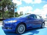 2013 Deep Impact Blue Metallic Ford Fusion Hybrid Titanium #83377518
