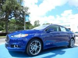 2013 Deep Impact Blue Metallic Ford Fusion Titanium #83377514