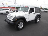 2011 Bright White Jeep Wrangler Sport 4x4 #83378396