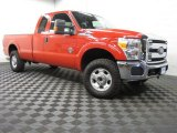 2012 Vermillion Red Ford F250 Super Duty XLT SuperCab 4x4 #83378382