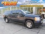 2008 Dark Blue Metallic Chevrolet Silverado 1500 LT Extended Cab 4x4 #83377128