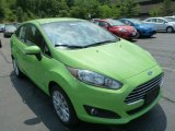 2014 Green Envy Ford Fiesta SE Sedan #83377596