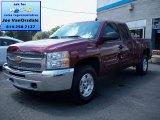 2013 Deep Ruby Metallic Chevrolet Silverado 1500 LT Extended Cab 4x4 #83377264