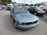 2005 Windveil Blue Metallic Ford Mustang V6 Deluxe Coupe #83378139