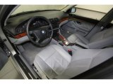 2000 BMW 5 Series 528i Sedan Gray Interior