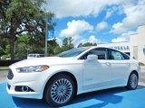 2013 White Platinum Metallic Tri-coat Ford Fusion Hybrid Titanium #83469459