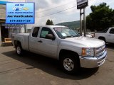 2013 Silver Ice Metallic Chevrolet Silverado 1500 LT Extended Cab 4x4 #83469384