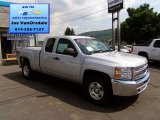 2013 Silver Ice Metallic Chevrolet Silverado 1500 LT Extended Cab 4x4 #83469383