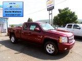 2013 Deep Ruby Metallic Chevrolet Silverado 1500 LT Extended Cab 4x4 #83469380