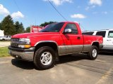 2002 Victory Red Chevrolet Silverado 1500 LS Regular Cab 4x4 #83483886