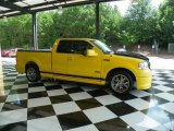 Yellow Ford F150 in 2005