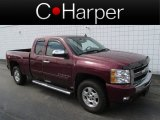 2009 Deep Ruby Red Metallic Chevrolet Silverado 1500 LT Extended Cab 4x4 #83500252