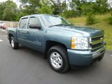 2009 Blue Granite Metallic Chevrolet Silverado 1500 LT Crew Cab 4x4 #83500725