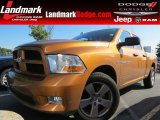 2012 Tequila Sunrise Pearl Dodge Ram 1500 Express Quad Cab #83499242