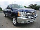 2013 Blue Topaz Metallic Chevrolet Silverado 1500 LT Extended Cab 4x4 #83499951