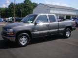 2002 Medium Charcoal Gray Metallic Chevrolet Silverado 1500 LS Extended Cab 4x4 #83500816