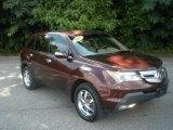 2008 Dark Cherry Pearl Acura MDX Technology #83500297