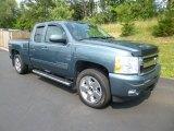 2009 Blue Granite Metallic Chevrolet Silverado 1500 LTZ Extended Cab 4x4 #83624109