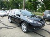 2013 Crystal Black Pearl Honda CR-V EX AWD #83624001
