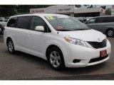 2012 Super White Toyota Sienna LE #83623745