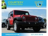 2011 Flame Red Jeep Wrangler Sport 4x4 #83666352