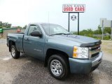 2010 Blue Granite Metallic Chevrolet Silverado 1500 LS Regular Cab 4x4 #83666384