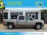 2009 Graystone Metallic Chevrolet Silverado 1500 LS Crew Cab #83692653