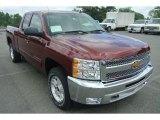 2013 Deep Ruby Metallic Chevrolet Silverado 1500 LT Extended Cab 4x4 #83692858