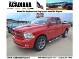 2012 Flame Red Dodge Ram 1500 Sport Quad Cab 4x4 #83692703