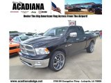 2009 Brilliant Black Crystal Pearl Dodge Ram 1500 Laramie Quad Cab #83692700
