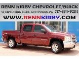 2013 Deep Ruby Metallic Chevrolet Silverado 1500 LT Crew Cab 4x4 #83692802