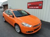 Header Orange Dodge Dart in 2013