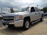 2011 Sheer Silver Metallic Chevrolet Silverado 1500 LS Crew Cab #83692679