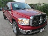 2008 Inferno Red Crystal Pearl Dodge Ram 1500 Big Horn Edition Quad Cab 4x4 #83723850