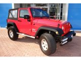 2008 Jeep Wrangler Flame Red