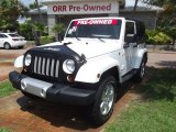 2012 Bright White Jeep Wrangler Sahara 4x4 #83724454