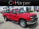 2006 Victory Red Chevrolet Silverado 1500 Work Truck Regular Cab 4x4 #83723738