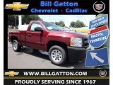 2013 Deep Ruby Metallic Chevrolet Silverado 1500 Work Truck Regular Cab #83724422