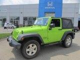 2012 Gecko Green Jeep Wrangler Sport 4x4 #83724322