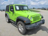 2012 Jeep Wrangler Sport 4x4 Front 3/4 View