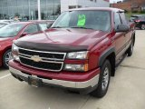 2006 Sport Red Metallic Chevrolet Silverado 1500 LS Extended Cab 4x4 #83724317