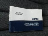 2003 Chevrolet Cavalier Sedan Books/Manuals