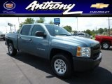 2009 Blue Granite Metallic Chevrolet Silverado 1500 Crew Cab 4x4 #83774998