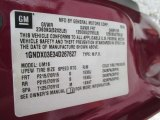 2004 Chevrolet Venture Plus Info Tag