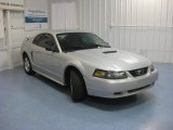 2002 Satin Silver Metallic Ford Mustang V6 Coupe #83774393